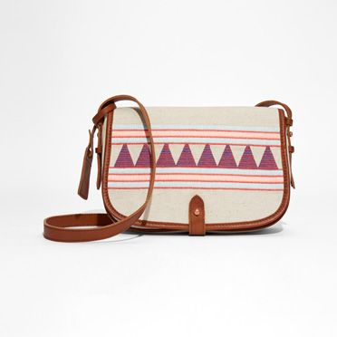 Embroidered Saddle Bag