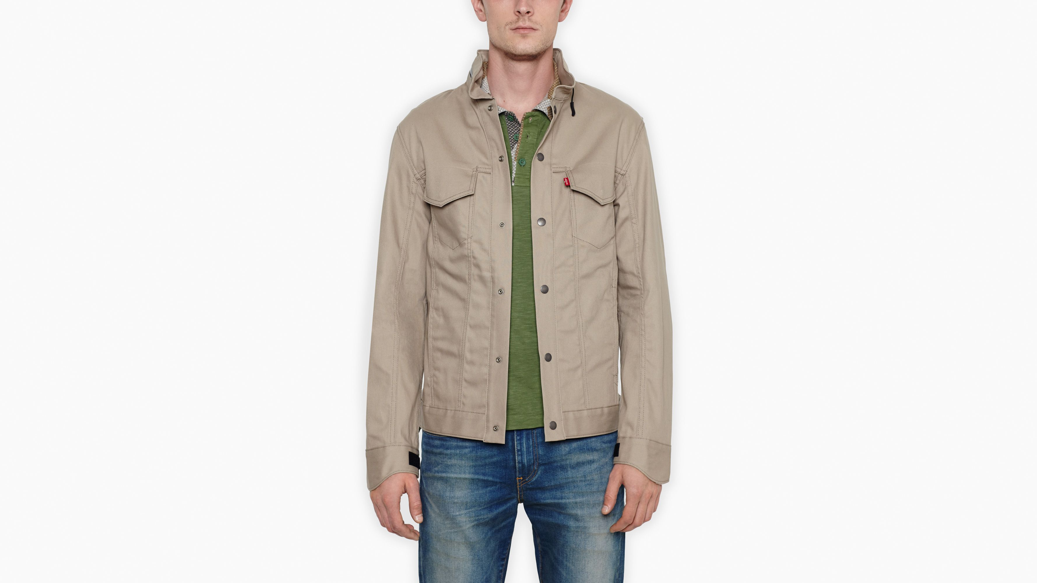 Levi's® Commuter™ Hooded Trucker Jacket - Timberwolf