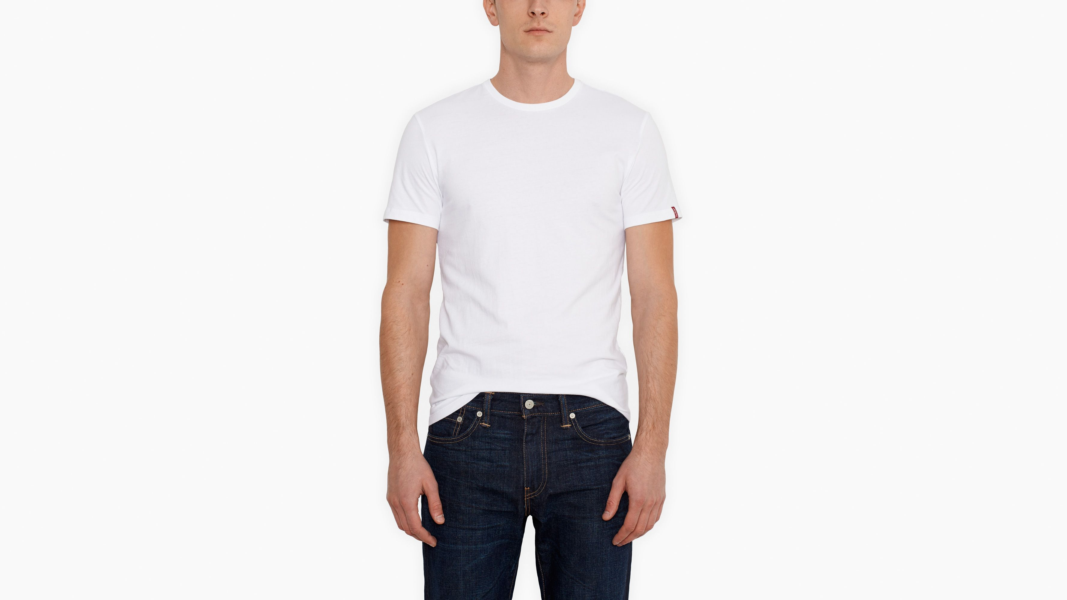 Slim Fit Tees (2-pack) - White
