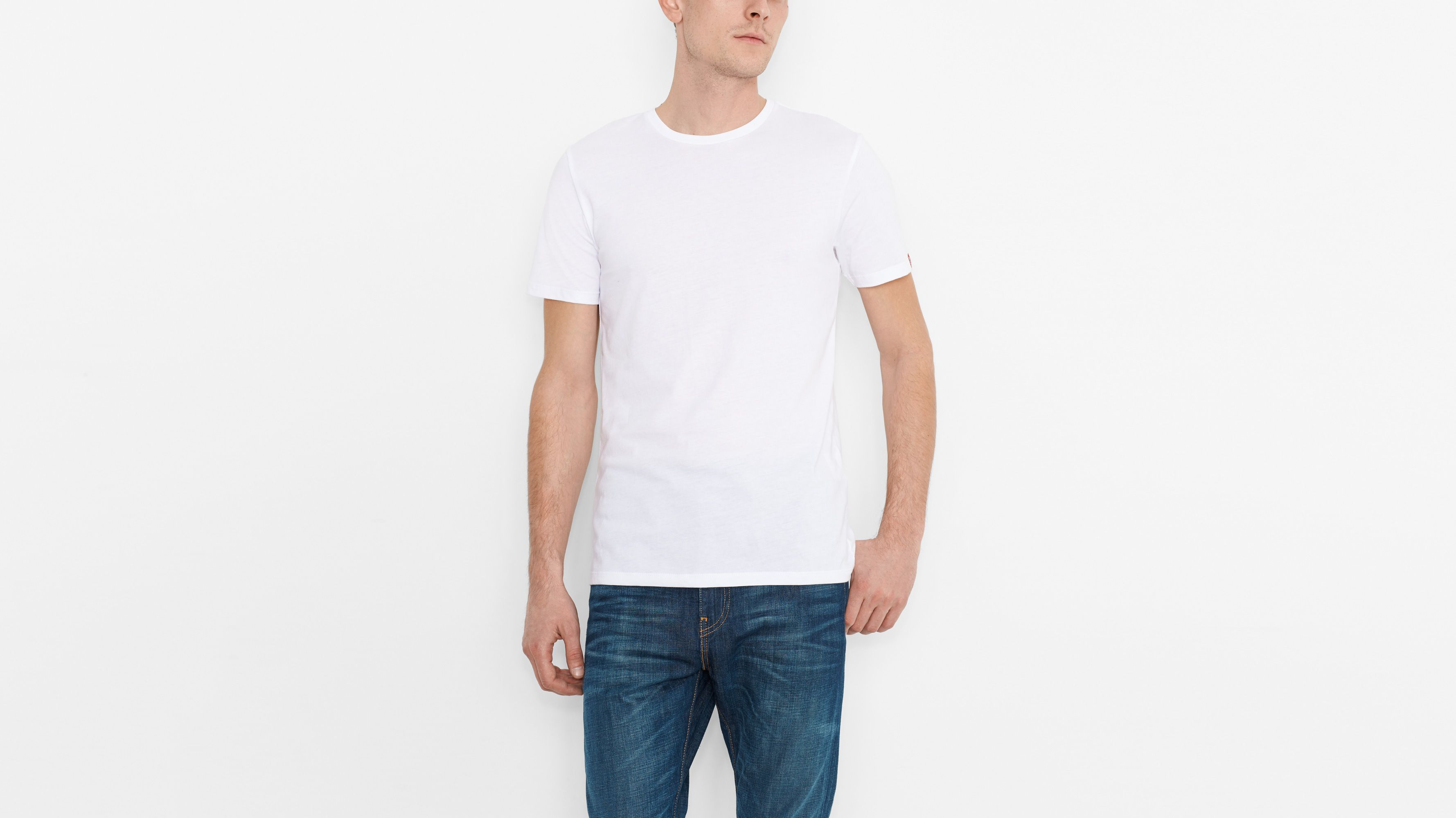 Slim Fit Tees (2-pack) - Heather Grey & White