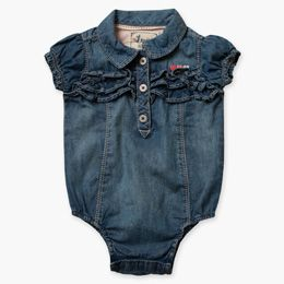 Infant Girls Denim Bodysuit (12-24 M)