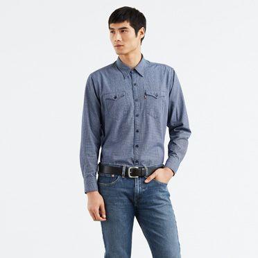 Levis-Modern Barstow Western Shirt-Shrew Indigo