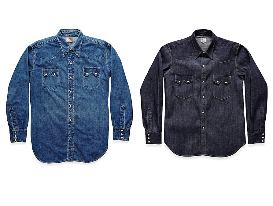 Levi 39 s vintage clothing american vintage style clothing for Levis vintage denim shirt 1950 sawtooth slim fit