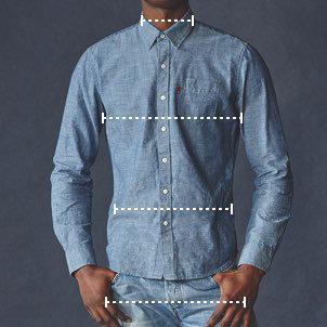 Levis mens denim jacket size chart