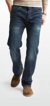 model wearing 501