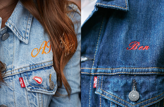 Levi's® Tailor Shop - İşleme ve monogram