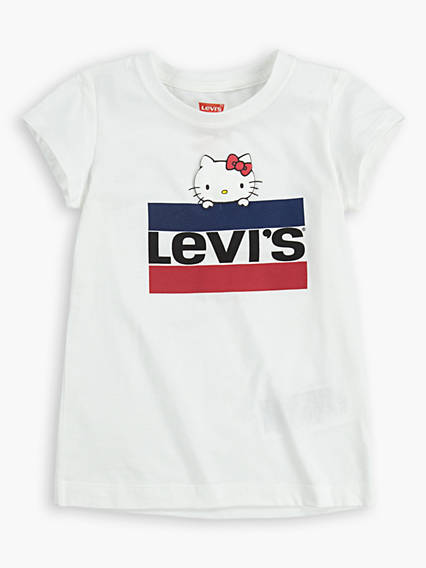 Little Girls 4-6x Levi's® x Hello Kitty Sportswear Logo Tee Shirt