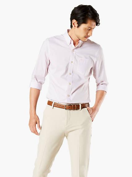 Men's Big & Tall Signature Comfort Flex, Button Down Shirt