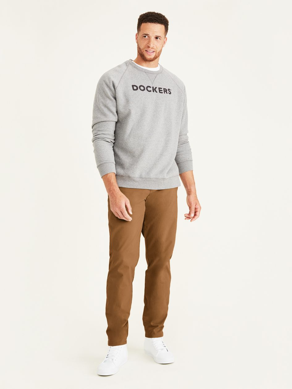 Ultimate Chinos, Tapered Fit (big And Tall) - Brown 852340004 | Dockers® US