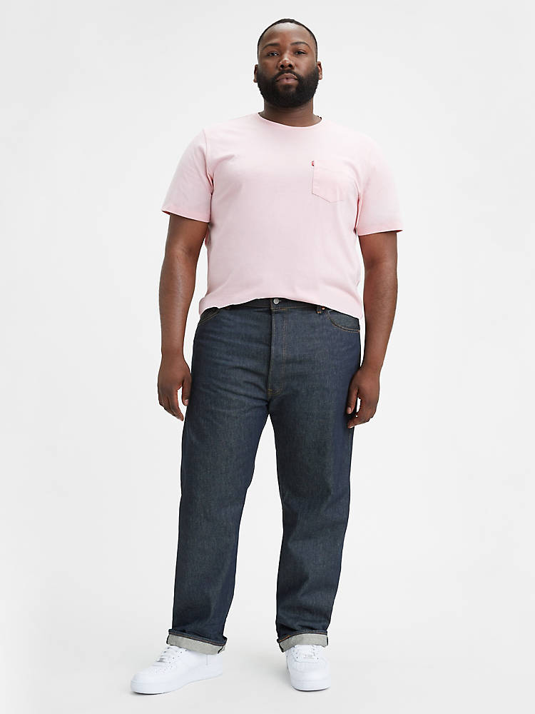 Levis 501 Shrink-to-fit Mens Jeans (big & Tall)