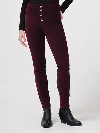 721 Corduroy High Rise Button Front Skinny Women's Pants