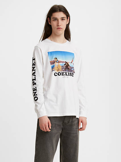 Longsleeve Relaxed Photo Graphic Tee Shirt