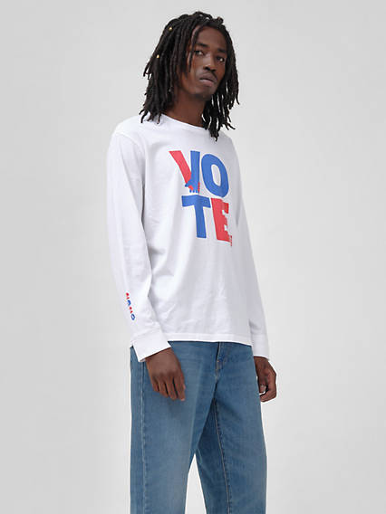 Levi's® x Vote Longsleeve Relaxed Graphic Tee Shirt