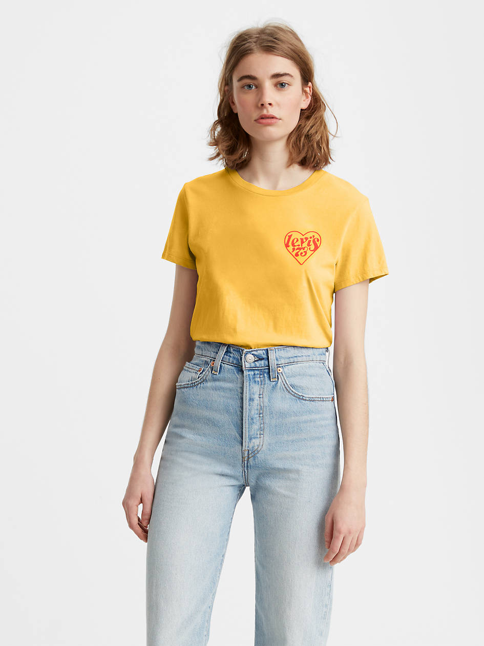 The Perfect Tee Shirt - Yellow   Levi's® US
