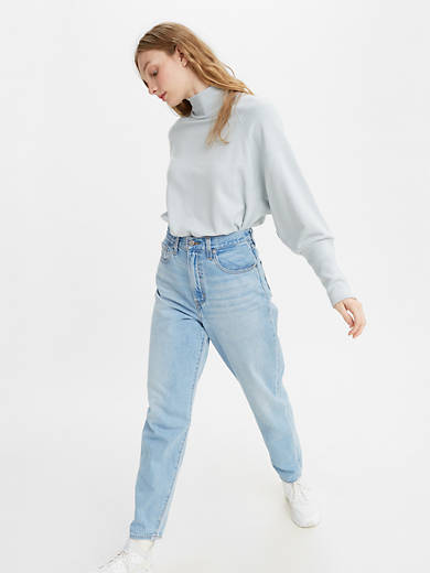 High Loose Taper Fit Women's Jeans