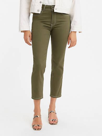 724 High Rise Carpenter Crop Women's Jeans