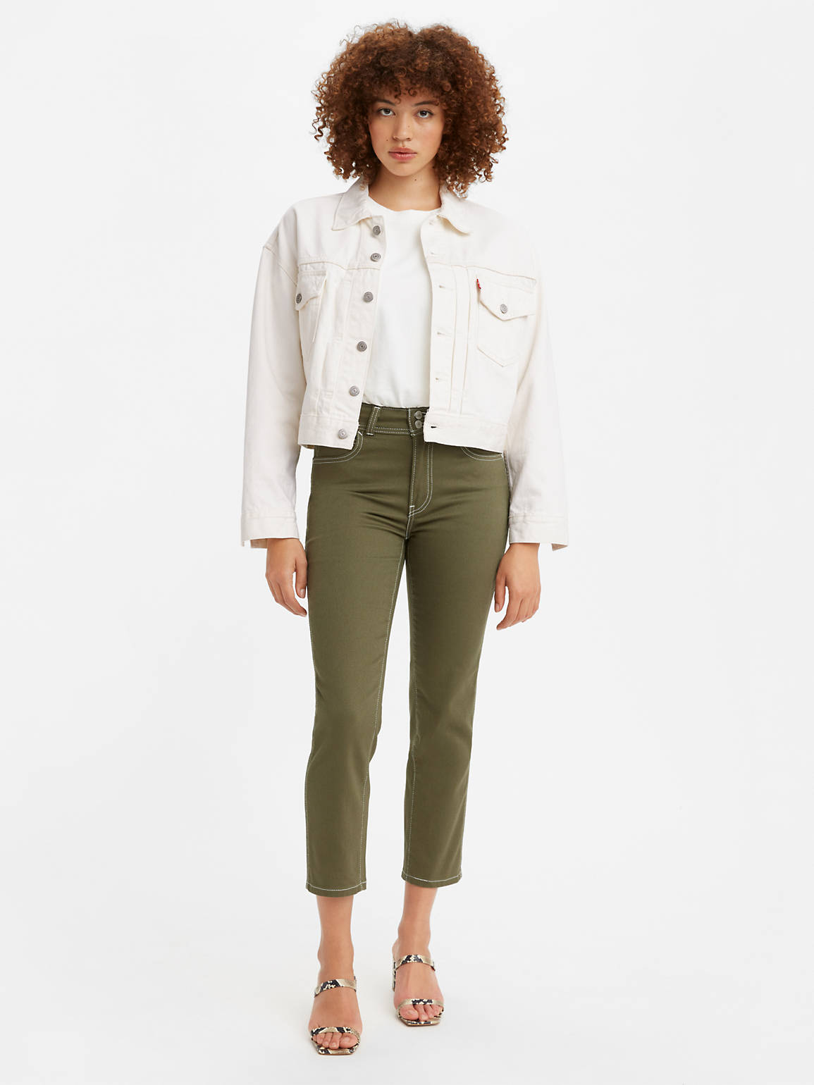 LEVI'S: HIGH RISE CARPENTER CROP WOMEN'S JEANS $16.97