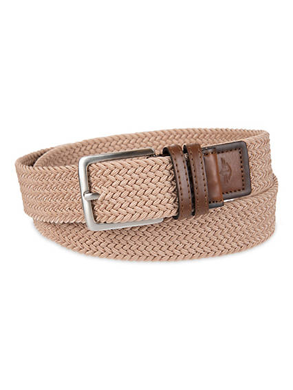 Men's Big & Tall Elastic Braid Belt