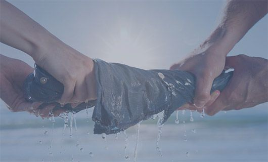 WE CAN REDUCE UP TO96% OF THE WATER NORMALLY USED IN DENIM FINISHING