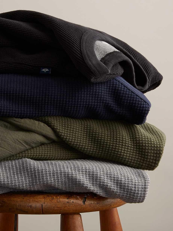 Shop Crewneck Waffle Knit Shirts