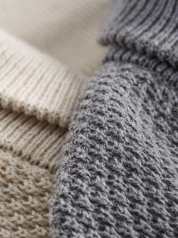 Cotton Shawl Popover Sweater, Gravel Heather