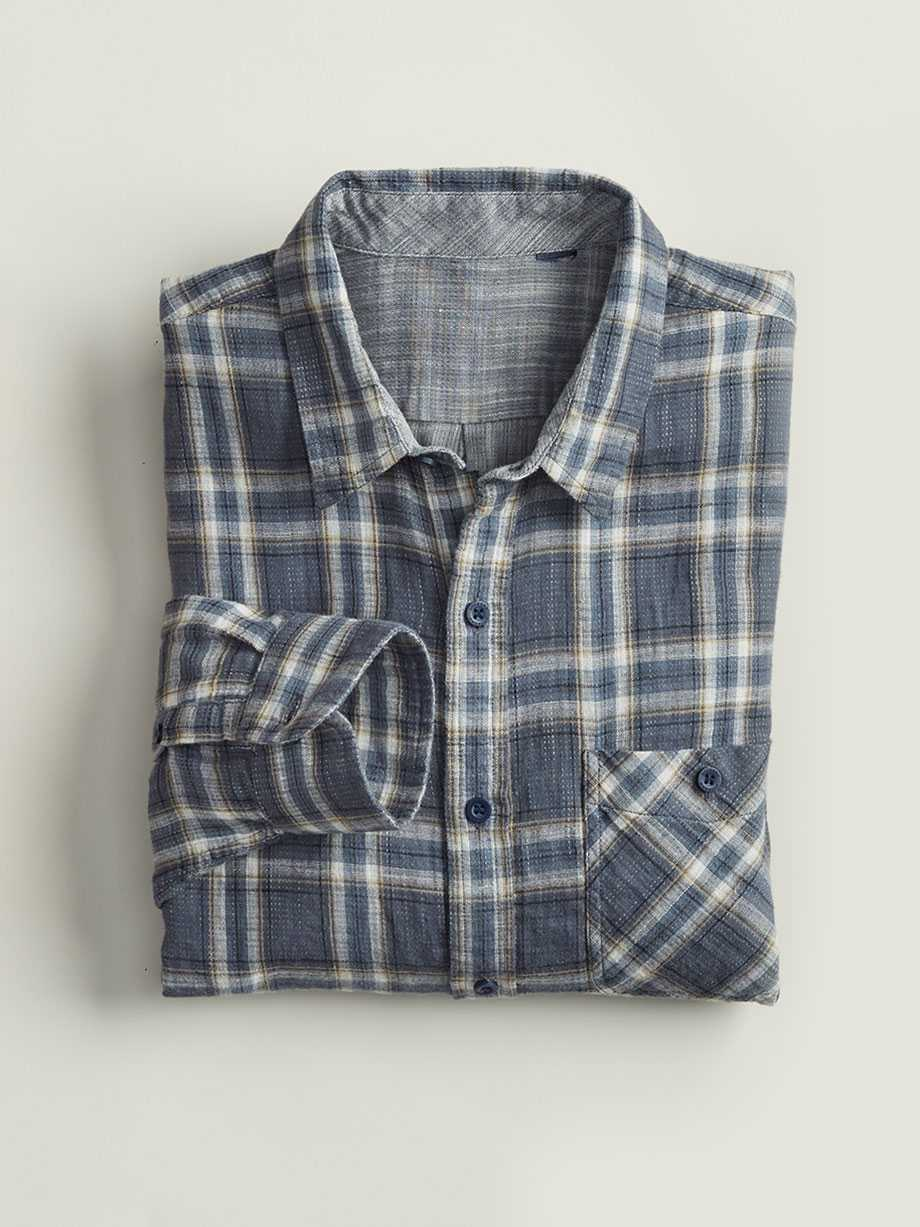 Double Weave Shirt, Brosnan Ombre Blue