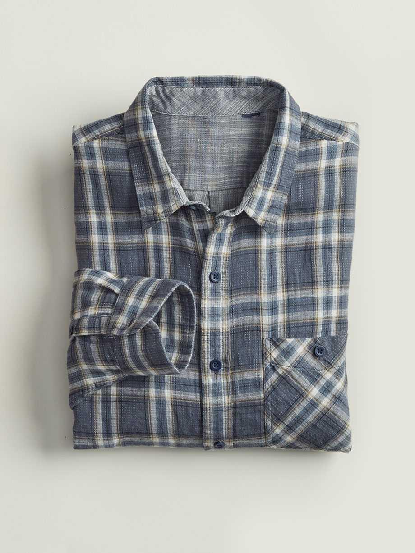 Double Weave Shirt, Brosnan Ombre Blue