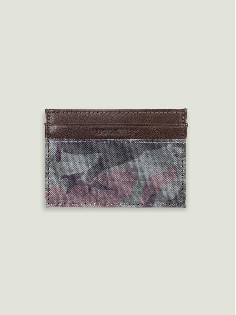 Card Case, Camouflage Green