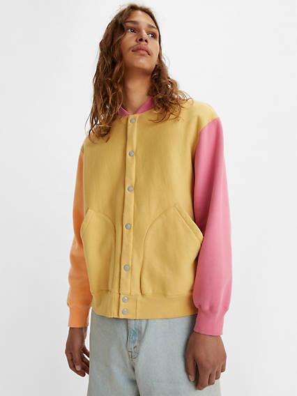 80s Windbreakers, Jackets, Coats Levis Fleece Cardigan - Mens L $295.00 AT vintagedancer.com