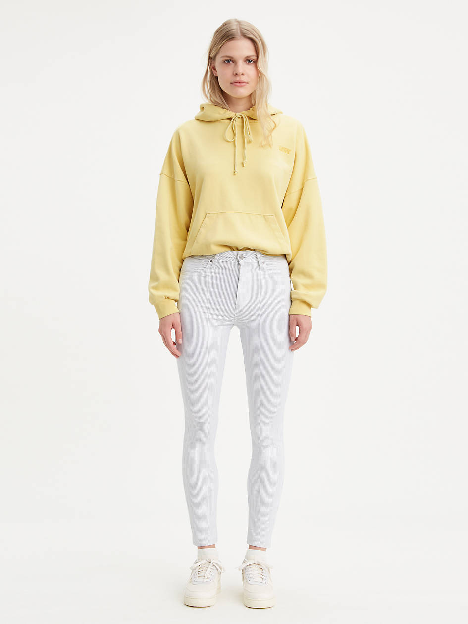 721 High Rise Striped Skinny Women's Jeans - White | Levi's® US