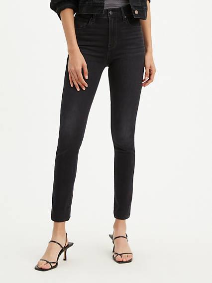 721 Jean filiforme taille haute pour femme
