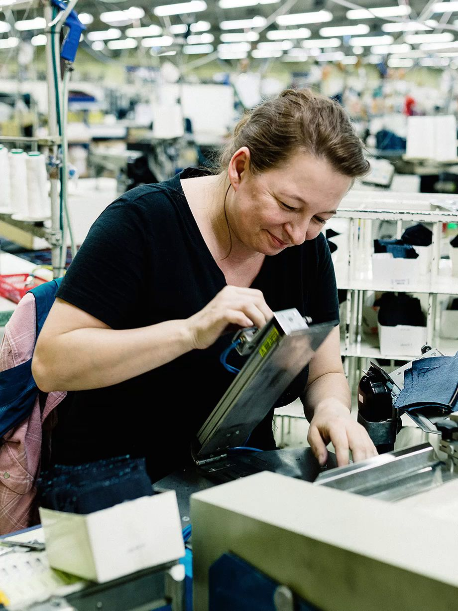 A Levi's Factory worker