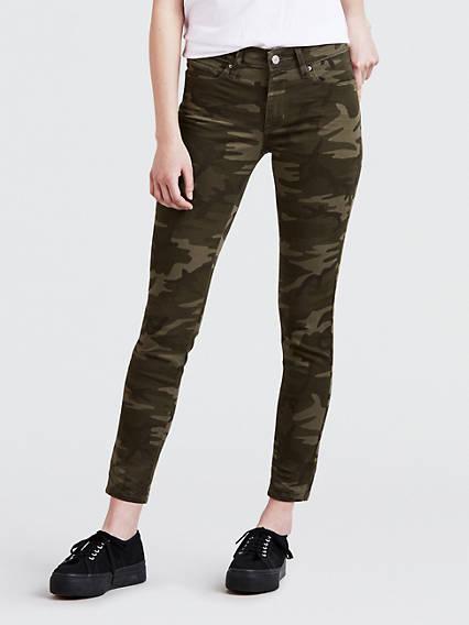 Camo Print 711 Skinny Ankle Women's Jeans
