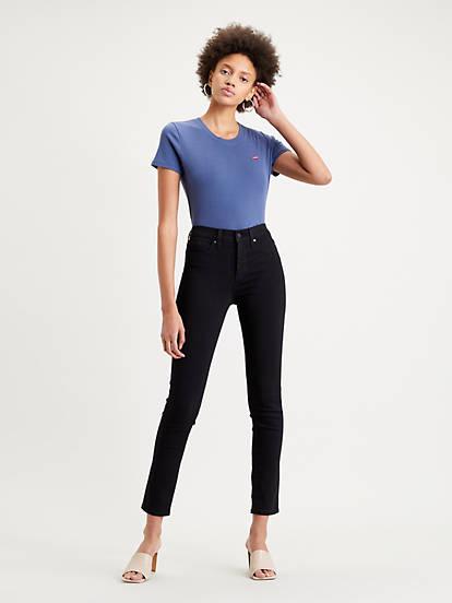 311™ Shaping Skinny Stretch Jeans Czarny | Levi's® PL