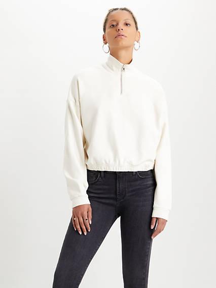 Pom Quarter-Zip Sweatshirt