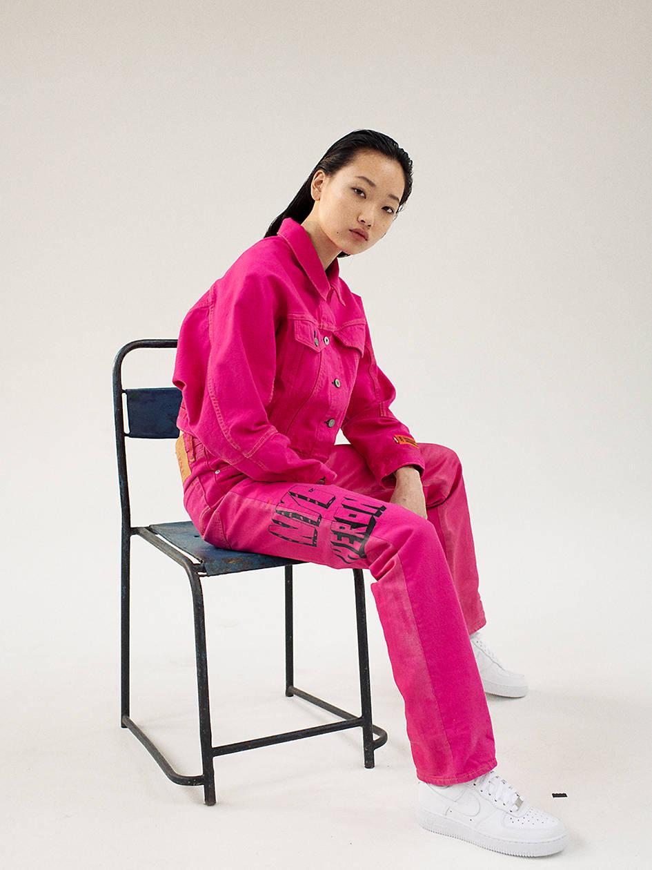Levi's® X Heron Preston 501® Original Fit Women's Jeans - Red   Levi's® US