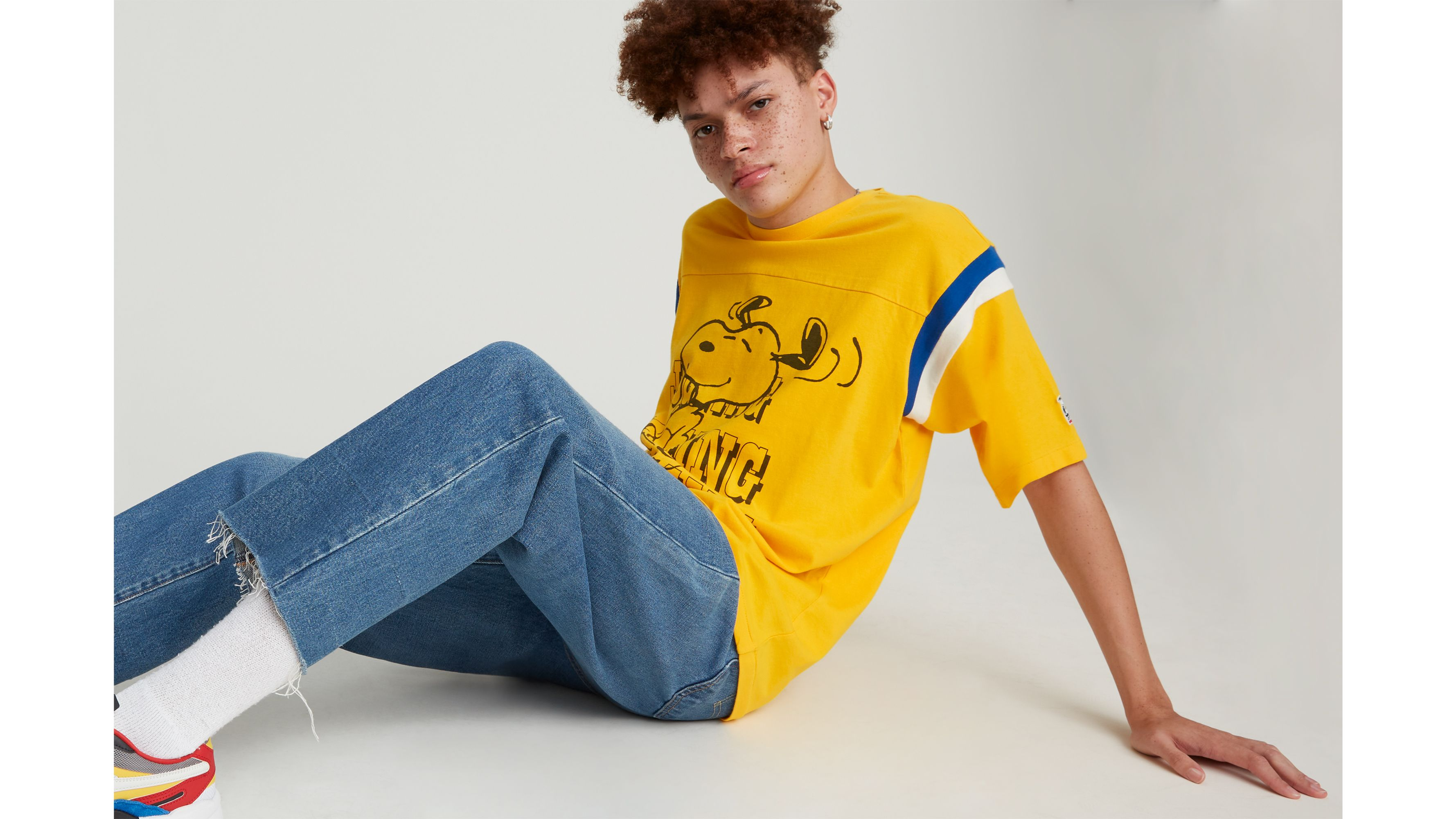Levis X Peanuts Football Tee Shirt