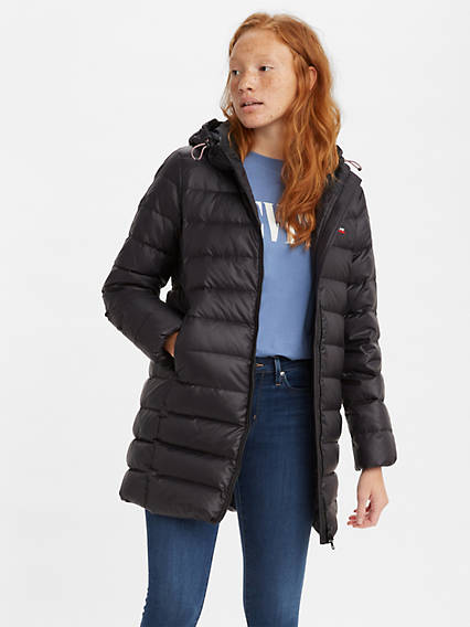Down Mid Length Puffer Jacket