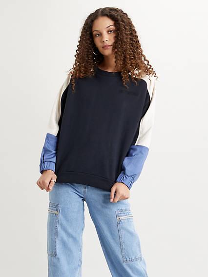 Leo Colorblock Crewneck Sweatshirt