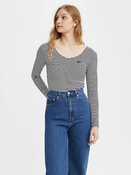80s Tops, Shirts, T-shirts, Blouse Levis Rosie Bodysuit - Womens XS $26.98 AT vintagedancer.com