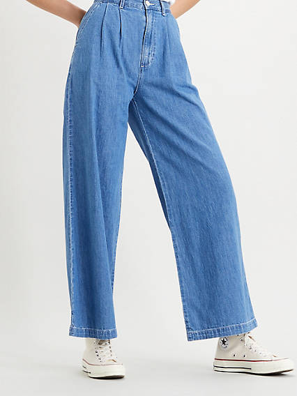 1980s Clothing, Fashion | 80s Style Clothes Levis Pleated Wide Leg Pant - Womens 27x30 $59.98 AT vintagedancer.com