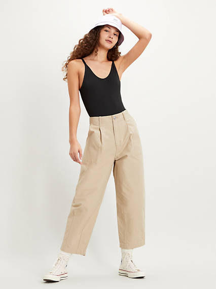 Utility Pleated Balloon Trousers