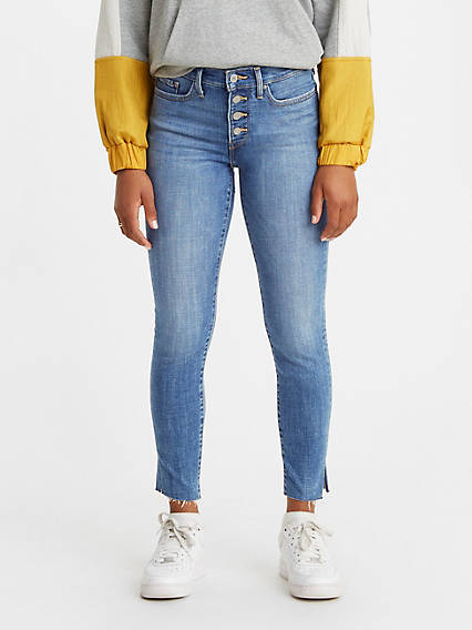 Exposed Button 311 Shaping Ankle Skinny Women's Jeans