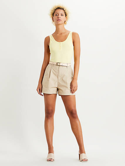 Pleated Utility Shorts