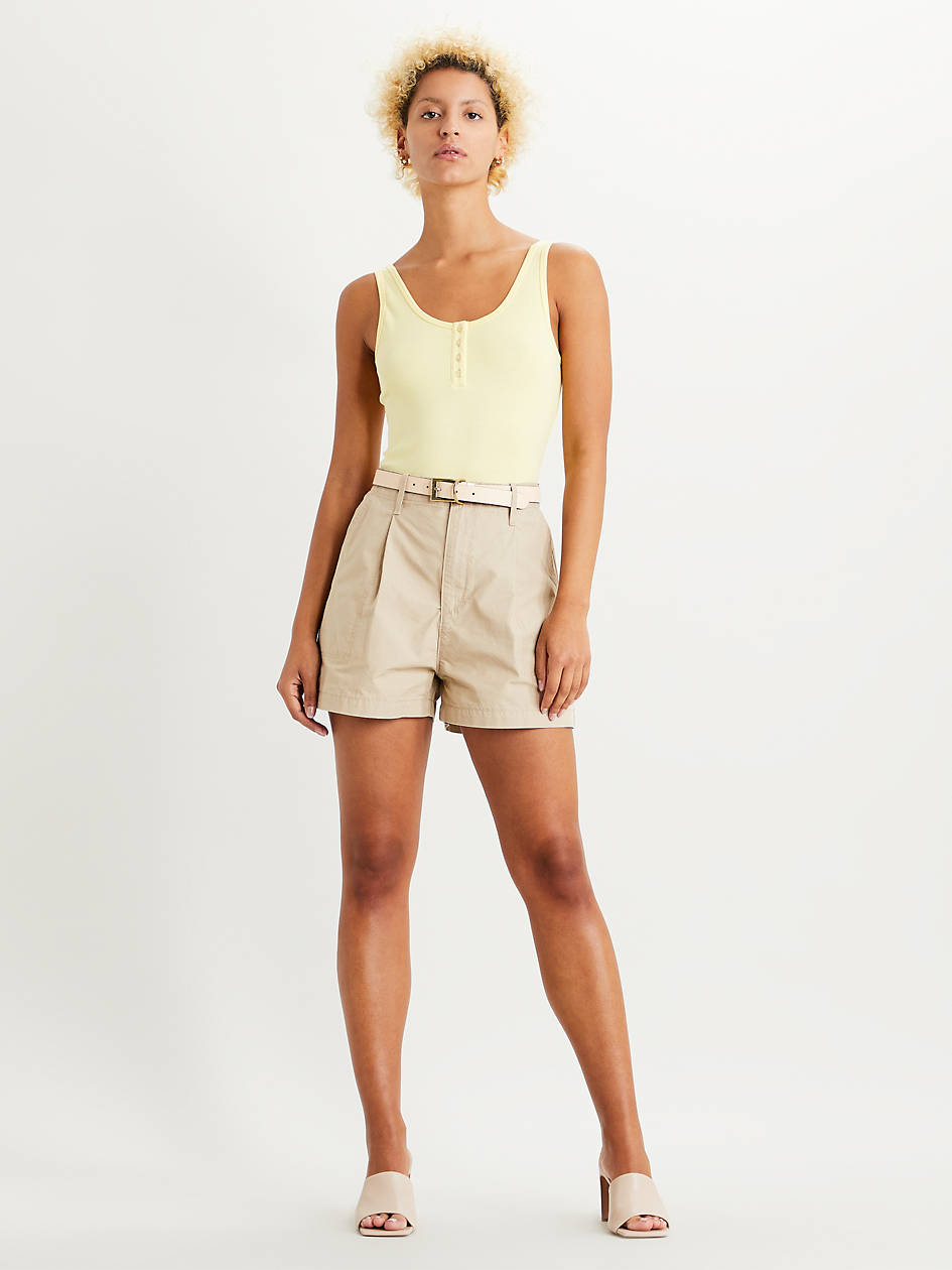 Pleated Utility Womens Shorts - Brown | Levi's® US