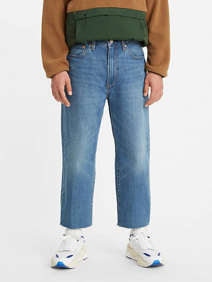 Stay Loose Cottonized Hemp Cropped Men's Jeans