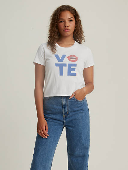 Levi's® x Vote Cropped Surf Tee Shirt