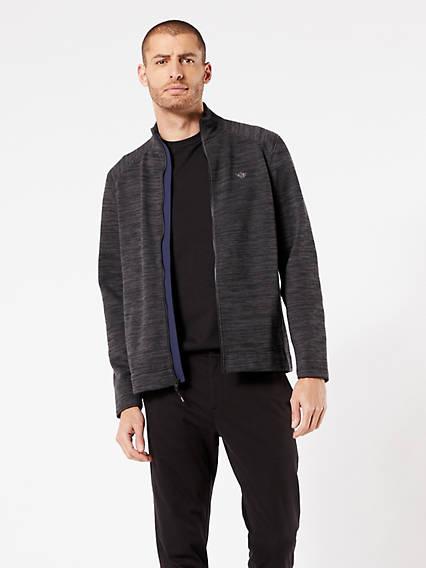Knit Jacket Asphalt  Black Spacedye