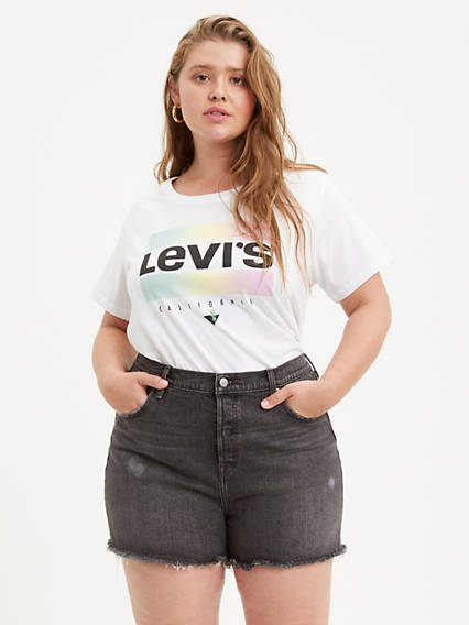 Perfect Crewneck Tee Shirt (Plus Size)