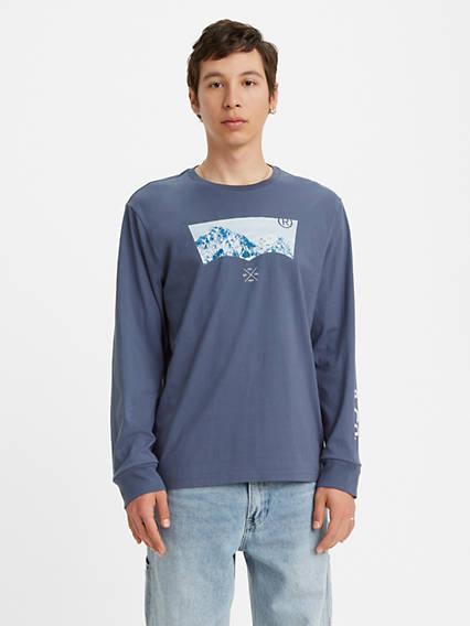 T-shirt graphique à manche longue